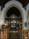 The chancel arch and screen. Restored, but done well, I think.