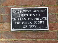no public right of way