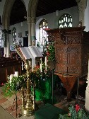 lectern and pulpit