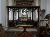 rood screen from west