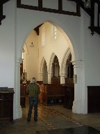 chancel arch from the east