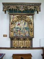 Flemish altar piece (and Comper additions)