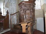 the pulpit, formerly at Cookley