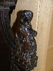 medieval bench end to churchwardens' pew