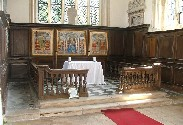 three-sided Laudian altar rails