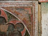 Barnadiston family pew: detail
