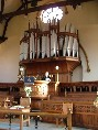 organ and pulpit
