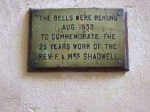 the Rev F & Mrs Shadwell