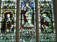 Christ in Majesty with St George and St Martin