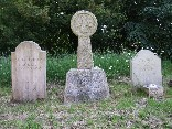 three headstones