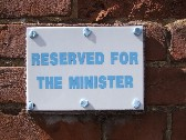 reserved for the minister