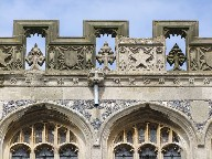 pierced tracery battlements