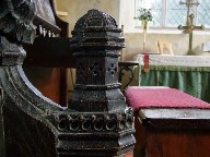 14th Century bench end