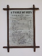 a table of fees
