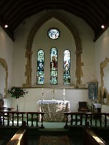 looking east in the chancel