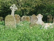 a corner of a Suffolk churchyard