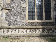 Pray for the souls of Thomas Mores and Margaret his Wife who had this aisle built in 1499.