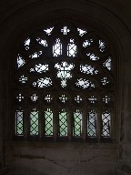 Victorian tracery in medieval processional way