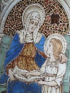 St Anne teaching the Blessed Virgin to read