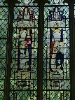 east window: copies of 15th century glass