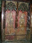 rood screen: St Agnes and St Cecilia