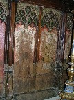 rood screen: St Agatha and St Faith