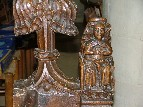 bench ends: Mother of God Enthroned?