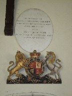 Victorian royal arms and memorial