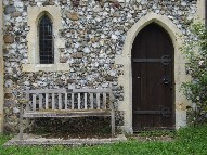 bench and priest door
