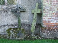 leaning crosses