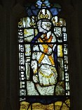 east window glass: St Andrew