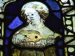 angel musician (English, medieval) - detail