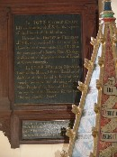 charity board and painted texts