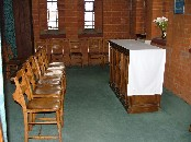 Blessed Sacrament chapel, now used for quiet prayer
